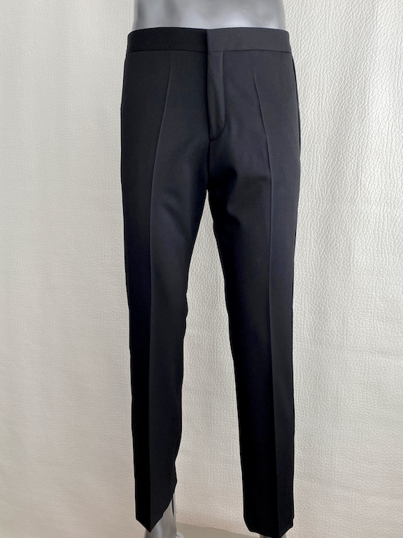RARE Burberry Prorsum Black Wool Pants-Side Details