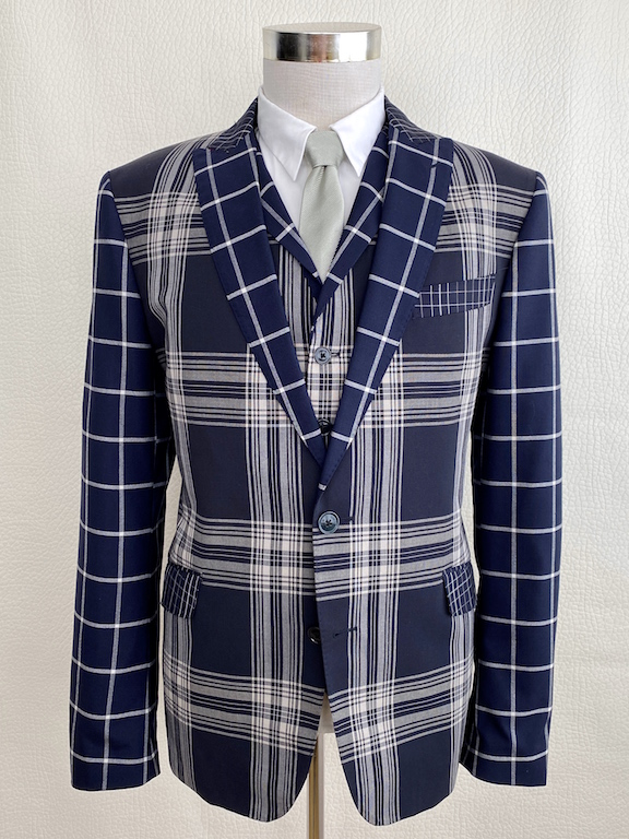 VERY RARE Etro Wool Plaid Suit 3 pieces