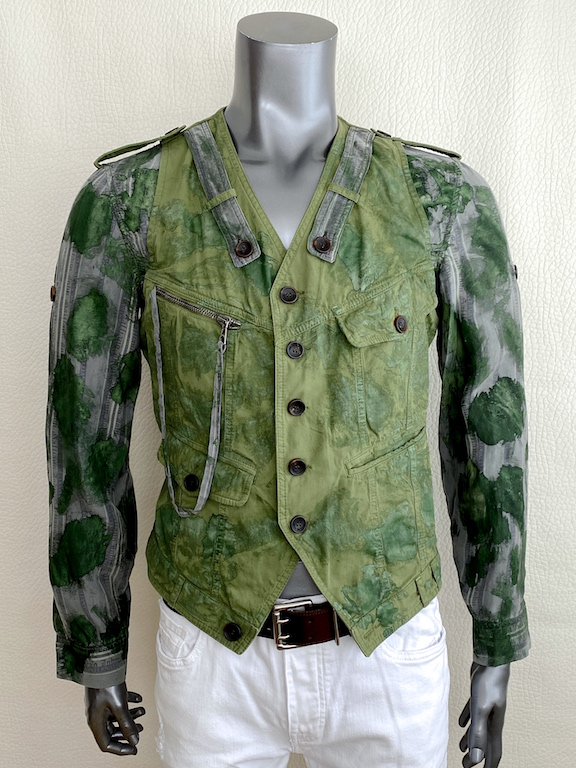 RARE John Galliano Runway Military Style Vest-Shirt