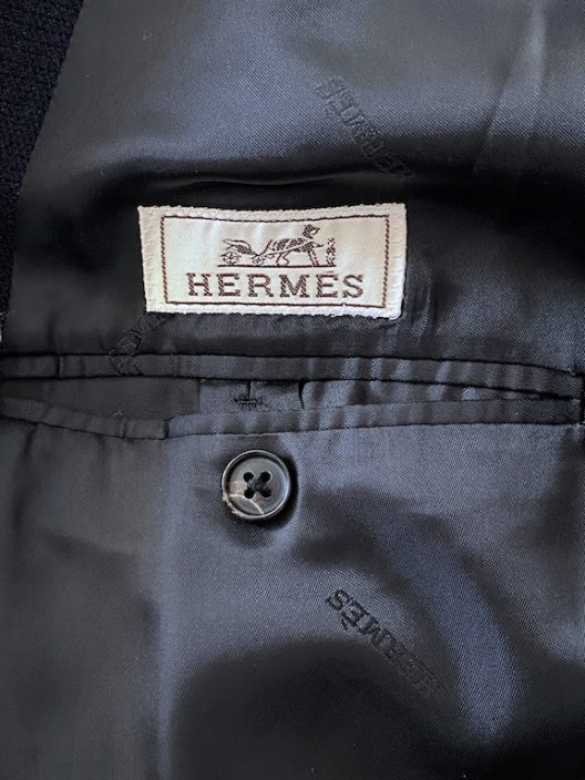 Hermès Navy Double Breasted Coat
