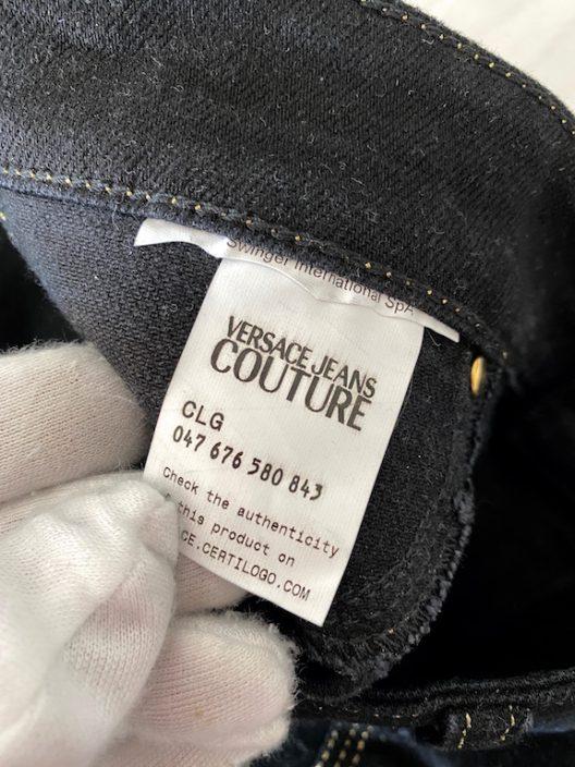 Versace Jeans Couture, black jeans-golden seam