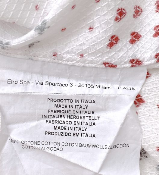 ETRO cotton shirt special tailoring