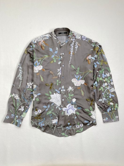 Gucci by Tom Ford Silk shirt-embroidered print