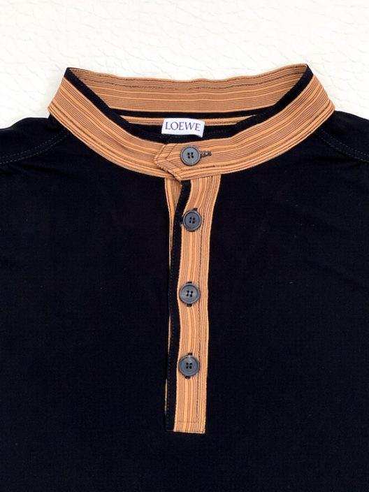 Loewe by Jonathan Anderson Black Knit Polo