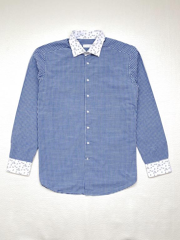 ETRO Slim fit shirt, vichy print