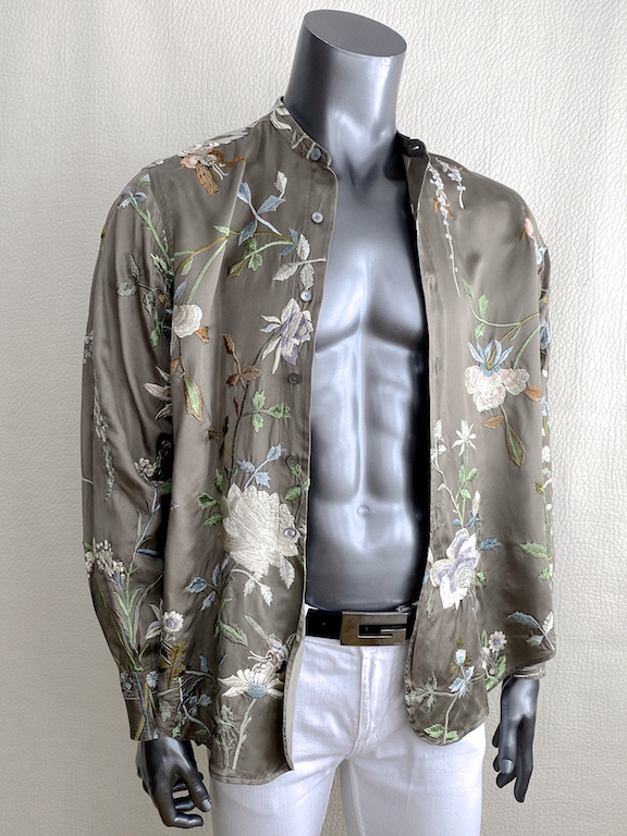 VTG Gucci by Tom Ford S/S 2003, embroidered silk shirt